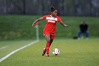 Boyds MD - April 19, 2014: Robyn Gayle (5) of the Washington Spirit. The Washington Spirit defeated the FC Kansas City 3-1 during a regular game of the 2014 season of the National Women's Soccer League at the Maryland SoccerPlex.