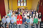 On Wednesday in the Church of the Purification the pupils of Spa NS who were confirmed by Fr Sean Hanafin PP St John's Tralee , (on behalf of the Bishop of Kerry Bill Murphy) with the pupils were Peter Linihan (principal) Deirdre Burke (Teacher) and Fr Eamon Mulvihill.