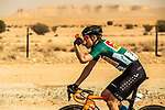 Race leader Phil Bauhaus (GER) Bahrain-Mclaren in action during Stage 4 of the Saudi Tour 2020 running 137km from Wadi Namar Park to Al Muzahimiyah King Saud University, Saudi Arabia. 7th February 2020. <br /> Picture: ASO/Kåre Dehlie Thorstad | Cyclefile<br /> All photos usage must carry mandatory copyright credit (© Cyclefile | ASO/Kåre Dehlie Thorstad)