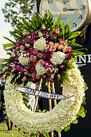 ARCADIA, CA  DECEMBER 26: A heartfelt memorial service for the horses lost in the Lilac Fire at San Luis Rey Downs was held after the fifth race on December 26, 2017 at Santa Anita Park in Arcadia, CA.(Photo by Casey Phillips/ Eclipse Sportswire/ Getty Images)