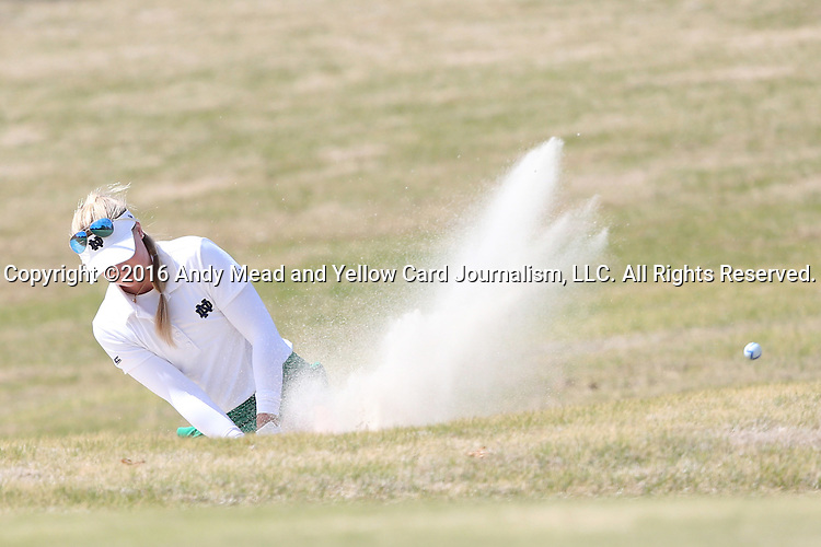 16 April 2016: Notre Dame's Maddie Rose Hamilton. The Second Round of the Atlantic Coast Conference's Womens Golf Tournament was held at Sedgefield Country Club in Greensboro, North Carolina.