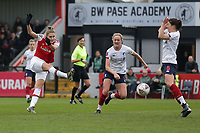 Vivianne Miedema of Arsenal with a shot on goal during Arsenal Women vs Liverpool Women, Barclays FA Women's Super League Football at Meadow Park on 24th November 2019