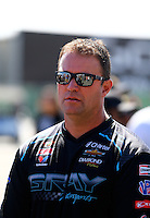 Jul. 27, 2014; Sonoma, CA, USA; NHRA pro stock driver Shane Gray during the Sonoma Nationals at Sonoma Raceway. Mandatory Credit: Mark J. Rebilas-