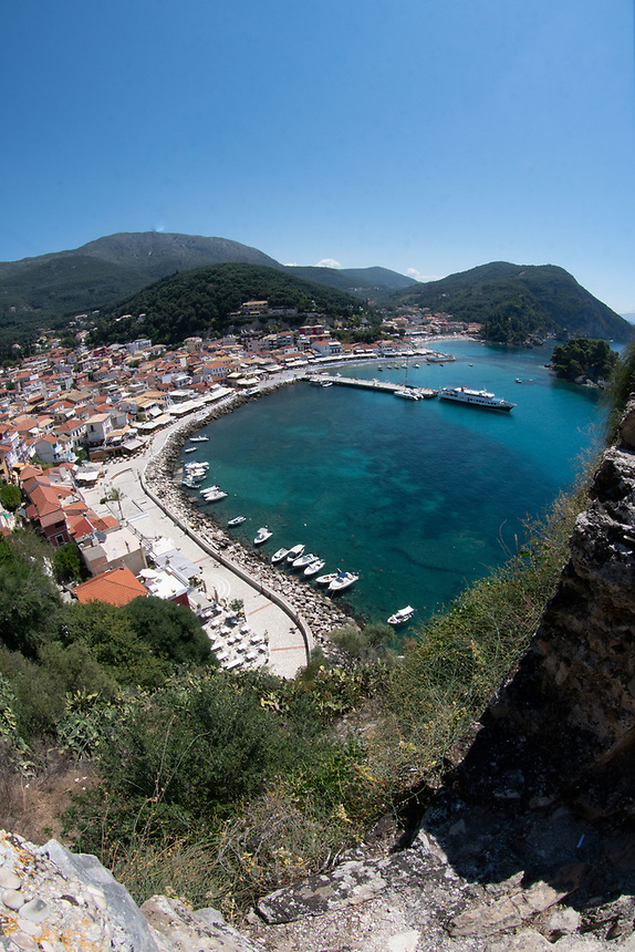 View from Castle, Parga, Epirus, Greece