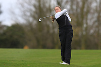 Anna Foster (Elm Park) on the 1st tee during Round 1 of the Irish Girls U18 Open Stroke Play Championship at Roganstown Golf &amp; Country Club, Dublin, Ireland. 05/04/19 <br /> Picture:  Thos Caffrey / www.golffile.ie