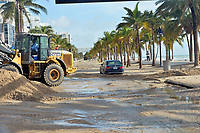 FORT LAUDERDALE,  FL - SEPTEMBER 11: ***NO NY DAILIES***  (EXCLUSIVE COVERAGE) Effects of Extreme Category 5 Hurricane Irma in South Florida immediately following the storm on September 11, 2017 in Fort Lauderdale, Florida<br /> CAP/MPI/mpi122<br /> &copy;mpi122/MPI/Capital Pictures
