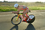 OCEANSIDE, CA - APRIL 7:  Holly Lawrence of Great Britain bikes during the IRONMAN 70.3 Oceanside Triathlon on April 7, 2018 in Oceanside, California. (Photo by Donald Miralle for IRONMAN)