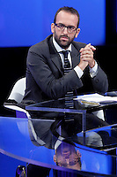 Claudio Cerasa<br /> Roma 07-09-2016 Rai, trasmissione televisiva 'Politics'.<br /> Rome 7th September 2016 Tv show 'Politics'.<br /> Photo Samantha Zucchi Insidefoto
