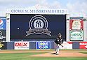 Masahiro Tanaka (Yankees),<br /> FEBRUARY 28, 2017 - MLB :<br /> New York Yankees starting pitcher Masahiro Tanaka delivers the first pitch in the first inning during a spring training baseball game against the Detroit Tigers at George M. Steinbrenner Field in Tampa, Florida, United States. (Photo by AFLO)