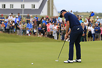 Grant Forrest (SCO) putts on the 17th green during Sunday's Final Round of the Dubai Duty Free Irish Open 2019, held at Lahinch Golf Club, Lahinch, Ireland. 7th July 2019.<br /> Picture: Eoin Clarke | Golffile<br /> <br /> <br /> All photos usage must carry mandatory copyright credit (© Golffile | Eoin Clarke)