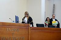 Roma, 20 Ottobre 2017<br /> La Terza Corte d'Assise  con la Presidente Evelina Canale.<br /> Aula Bunker di Rebibbia<br /> Seconda udienza udienza del nuovo processo per la morte di Stefano Cucchi che vede imputati 5 Carabinieri.<br /> Il nuovo processo è stato rinviato al 16  Novembre  alla Prima Corte D'Assise dopo che la presidente della Terza Corte d'Assise si è astenuta per incompatibilità, visto che era stata già giudice del primo processo per la morte del giovane.