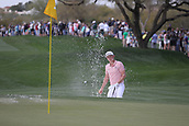 February 2nd 2019, Scottsdale, Arizona, USA; Cameron Smith hits out of the sand trap on the ninth hole during the third round of the Waste Management Phoenix Open on February 02, 2019, at TPC Scottsdale in Scottsdale, AZ.