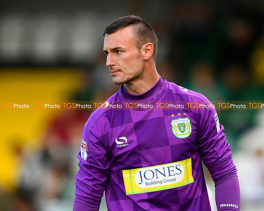 Artur Krysiak of Yeovil Town during Yeovil Town vs Accrington Stanley, Sky Bet EFL League 2 Football at Huish Park on 12th August 2017
