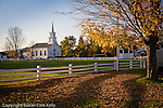 Autumn leaves on Craftsbury Common, Craftsbury, VT, USA