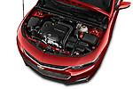 Car Stock 2016 Chevrolet Malibu 1LT 4 Door Sedan Engine  high angle detail view