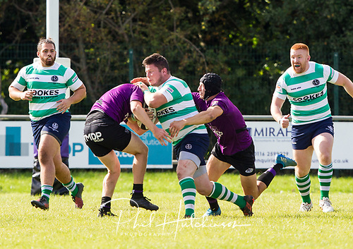 Leicester, England, 9th, September, 2017. <br /> <br /> Action in the National League 2 North rugby union match between Leicester Lions rfc and South Leicester rfc.  Daniel Ireland makes a break for Leicester Lions<br /> <br /> <br /> <br /> <br /> &copy; Phil Hutchinson