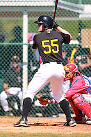 Pittsburgh Pirates minor league outfielder Wesley Freeman (55) vs. the Philadelphia Phillies in an Instructional League game at Pirate City in Bradenton, Florida;  October 6, 2010.  Photo By Mike Janes/Four Seam Images