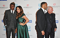 Wilfried Zaha and Maria Bravo, Callum Wilson and Jeff Mostyn at the Football For Peace Initiative Dinner by Global Gift Foundation, Corinthia Hotel, Whitehall Place, London, England, UK, on Monday 08th April 2019.<br /> CAP/CAN<br /> ©CAN/Capital Pictures