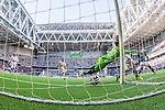 Stockholm 2014-04-27 Fotboll Allsvenskan Djurg&aring;rdens IF - IF Brommapojkarna :  <br /> Djurg&aring;rdens Aleksandar Prijovic g&ouml;r 3-2 bakom Brommapojkarnas m&aring;lvakt Ivo Vazgec  i den andra halvleken<br /> (Foto: Kenta J&ouml;nsson) Nyckelord:  Djurg&aring;rden DIF Tele2 Arena Brommapojkarna BP jubel gl&auml;dje lycka glad happy remote remotekamera