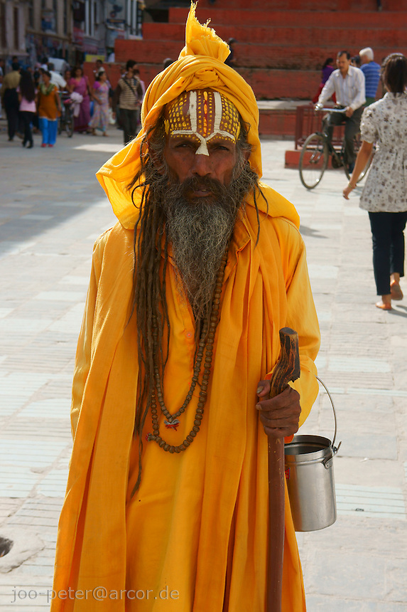 sadhu at Durbar Square, Kathmandu, Nepal, October 2011