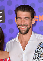Michael Phelps at the Nickelodeon Kids' Choice Sports Awards 2018 at Barker Hangar, Santa Monica, USA 19 July 2018<br /> Picture: Paul Smith/Featureflash/SilverHub 0208 004 5359 sales@silverhubmedia.com