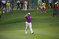 Lee Westwood (ENG) approaches the final green to massive applause during the Final Round of the 2014 Maybank Malaysian Open at the Kuala Lumpur Golf & Country Club, Kuala Lumpur, Malaysia. Picture:  David Lloyd / www.golffile.ie