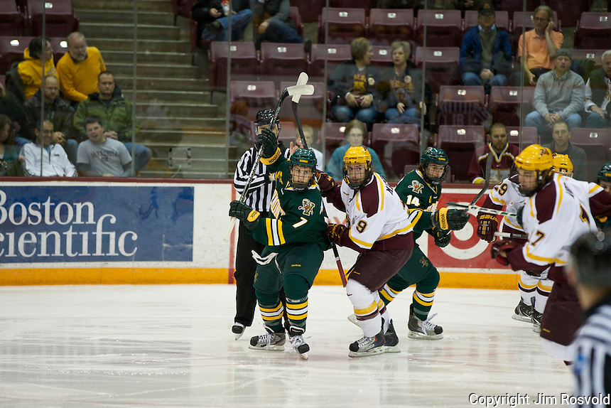 21 Oct 11: Mike Montanga (Vermont - 7), Taylor Matson (Minnesota - 9)  The University of Minnesota Golden Gophers host the University of Vermont Catamounts in a non-conference matchup at Mariucci Arena in Minneapolis, MN.