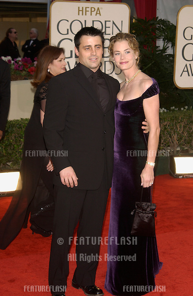 MATT LEBLANC & date at the Golden Globe Awards at the Beverly Hills Hilton Hotel..19JAN2003...© Paul Smith / Featureflash