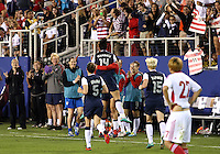 BOCA RATON, FL - DECEMBER 15, 2012: Abby Wambach (14) of the USA after scoring her second goal during an international friendly match match against China at FAU Stadium, in Boca Raton, Florida, on Saturday, December 15, 2012. USA won 4-1.