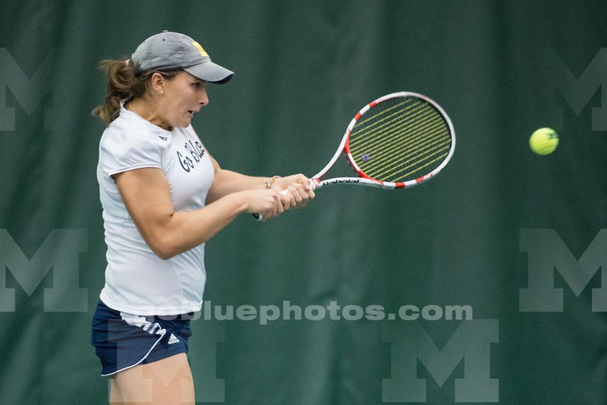 Michigan Women's Tennis defeats Yale 4-0 at the Varsity Tennis Center on Sat., Jan 24, 2015 in Ann Arbor, MI.