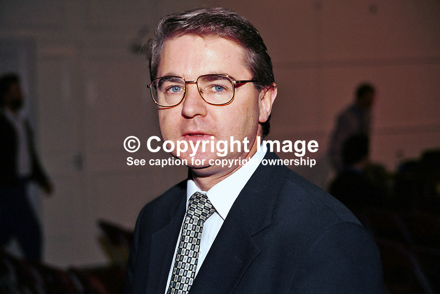 Frank Fahey, TD, Junior Minister, Fianna Fail, Government, Rep of Ireland, 199811025..Copyright Image from Victor Patterson, 54 Dorchester Park, Belfast, UK, BT9 6RJ..Tel: +44 28 9066 1296.Mob: +44 7802 353836.Voicemail +44 20 8816 7153.Skype: victorpattersonbelfast.Email: victorpatterson@mac.com.Email: victorpatterson@ireland.com (back-up)..IMPORTANT: If you wish to use this image or any other of my images please go to www.victorpatterson.com and click on the Terms & Conditions. Then contact me by email or phone with the reference number(s) of the image(s) concerned.