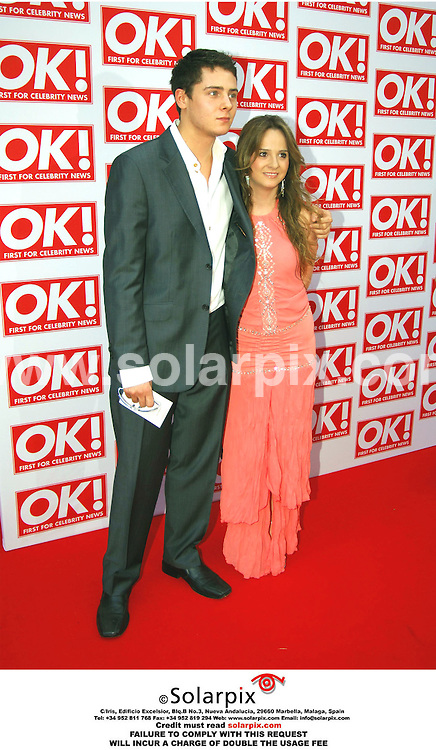 ALL-ROUND PICTURES FROM SOLARPIX.COM - 11.05.06.*MUST CREDIT SOLARPIX.COM OR DOUBLE USAGE FEE*.Chris Parker and girlfriend attend the OK Magazine party in London last night.REF: 2331 MSR