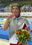 Andr&eacute;a Cole fromThunder Bay Ontario, performing for bronze medal in Ath&egrave;nes<br />