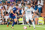 Carlos Henrique Casemiro (r) of Real Madrid fights for the ball with Sergi Roberto Carnicer of FC Barcelona during their Supercopa de Espana Final 2nd Leg match between Real Madrid and FC Barcelona at the Estadio Santiago Bernabeu on 16 August 2017 in Madrid, Spain. Photo by Diego Gonzalez Souto / Power Sport Images
