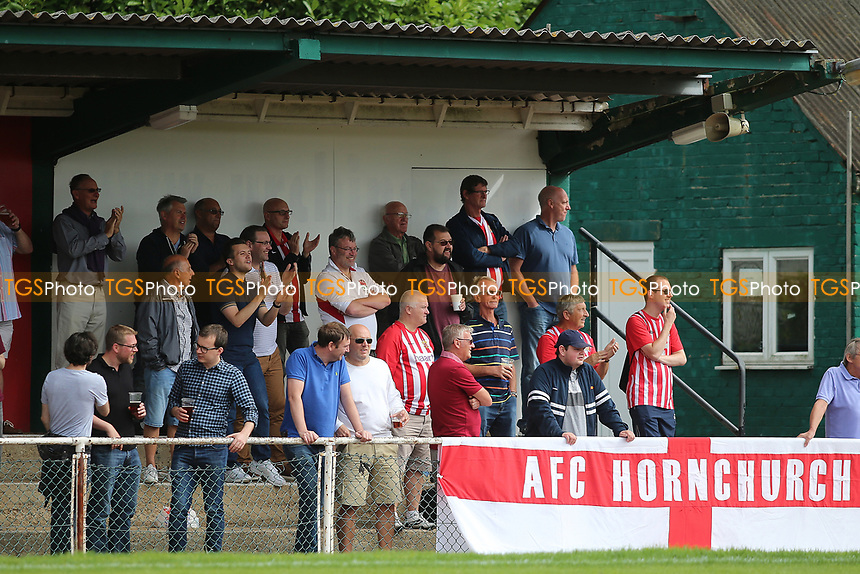 Hornchurch Faithful during AFC Hornchurch vs Soham Town Rangers, Bostik League Division 1 North Football at Hornchurch Stadium on 12th August 2017