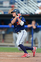 State College Spikes second baseman Mason Katz #37 during a game against the Batavia Muckdogs on June 30, 2013 at Dwyer Stadium in Batavia, New York.  State College defeated Batavia 7-2.  (Mike Janes/Four Seam Images)
