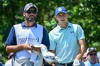 Jordan Spieth (USA) and his caddie, Michael Greller look over the 7th tee during round 2 of the Dean &amp; Deluca Invitational, at The Colonial, Ft. Worth, Texas, USA. 5/26/2017.<br /> Picture: Golffile | Ken Murray<br /> <br /> <br /> All photo usage must carry mandatory copyright credit (&copy; Golffile | Ken Murray)