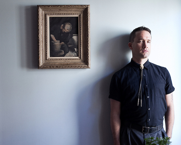 October 17, 2011. Durham, NC..Jamie Stewart of XiuXiu, photographed in Durham, NC for promo for his upcoming album, to be released in February 2012.