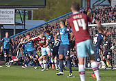 02/05/16 Sky Bet League Championship  Burnley v QPR<br /> Sam Vokes heads home