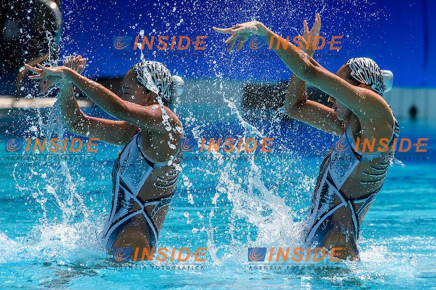 CHN - People's Republic Of China HUANG Xuechen SUN Wenyan<br /> Duets Technical Routine <br /> Rio de Janeiro 15-08-2016 Maria Lenka Aquatics Center  <br /> Synchronised Swimming <br /> Nuoto Sincronizzato <br /> Foto Andrea Staccioli / Deepbluemedia /Insidefoto