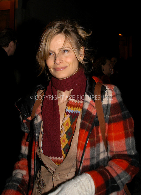 "Celebrities gather in New York to discuss how to defeat President Bush ""Victory Campaign 2004."" PICTURED: KYRA SEDGEWICK. New York, February 4, 2004. Please byline: AJ SOKLANER/NY Photo Press.   ..*PAY-PER-USE*      ....NY Photo Press:  ..phone (646) 267-6913;   ..e-mail: info@nyphotopress.com"