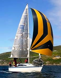 Jackie Ward's successful Clifden-based Ron Holland-designed Parker 27 Hallmark