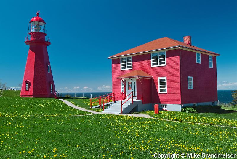 lighthouse on Gaspe Peninsula<br /> La Martre<br /> Quebec<br /> Canada