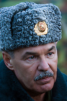 Kamenka, Karelia, Russia, 14/12/2007..Lt. General Nikolai Grigorievich Dimov during Snezhinka [Snowflake] 2007, a joint live fire training exercise for Russian and Swedish motorised infantry in which they play the roles of a combined peace-keeping force enforcing a demilitarised zone in a warring region.