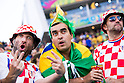 Brazil fans (BRA), Croatia fans (CRO), JUNE 12, 2014 - Football / Soccer : FIFA World Cup Brazil 2014 Group A match between Brazil 3-1 Croatia at Arena de Sao Paulo in Sao Paulo, Brazil. (Photo by Maurizio Borsari/AFLO)