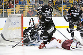 Alex Beaudry (PC - 35), Drew Brown (PC - 7), Myles Harvey (PC - 44), Steven Whitney (BC - 21), Tim Schaller (Providence - 11) - The Boston College Eagles defeated the Providence College Friars 4-2 in their Hockey East semi-final on Friday, March 16, 2012, at TD Garden in Boston, Massachusetts.