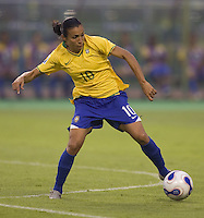 Brazil forward (10) Marta. Brazil (BRA) defeated New Zealand (NZL) 5-0 in their  FIFA Women's World Cup China 2007 Group D opening round match at Wuhan Sports Center Stadium in Wuhan, China on September 12, 2007.