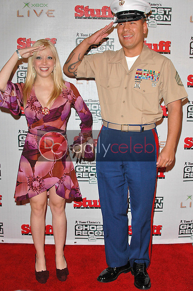 Courtney Peldon and Staff Sgt. Vince Peralta