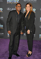 "Martin Lawrence & Roberta Moradfar at the world premiere for ""Black Panther"" at the Dolby Theatre, Hollywood, USA 29 Jan. 2018<br /> Picture: Paul Smith/Featureflash/SilverHub 0208 004 5359 sales@silverhubmedia.com"