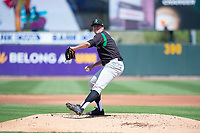 Dayton Dragons starting pitcher James Marinan (7) during a Midwest League game against the Cedar Rapids Kernels at Perfect Game Field on May 5, 2019 in Cedar Rapids, Iowa. Cedar Rapids defeated Dayton 4-0. (Zachary Lucy/Four Seam Images)
